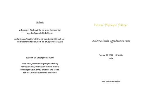 Heloise Palmer, 2021